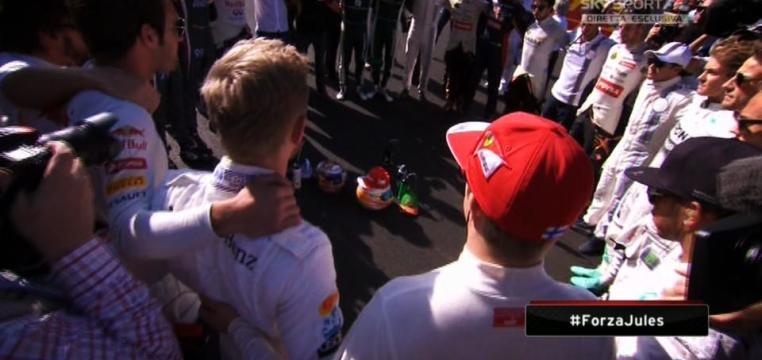 Sochi GP 2014 Minute silent drivers, alonso, kimi, hamilton, ricciardo, vettel, Rosberg Jules Bianchi Crash Suzuka. Life