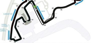 Yas Marina Abu Dhabi race track F1 2014 double points
