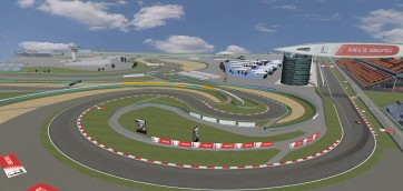 shangai international circuit, rfactor, turn 1 and 2 f1 simulator