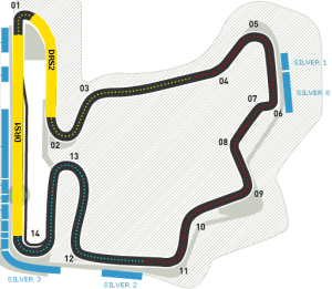 F1 circuit map hungaroring f1 simulator drs