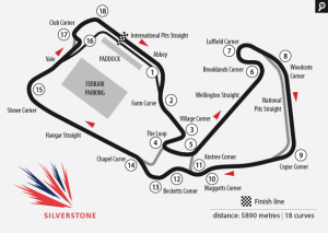 silverstone track circuit map f1 2015